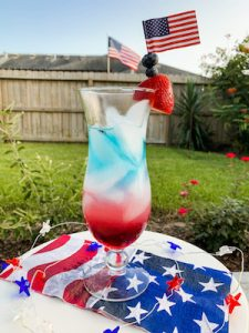 Patriotic Punch: Red, White & Blue Layered Drink 2
