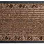 Brown doormat with rubber backing