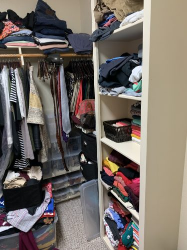 Before picture of closet