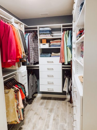 After picture of closet